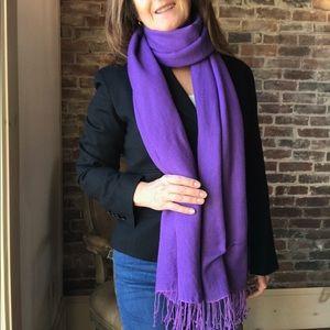 Accessories - Pashmina & silk bright purple scarf